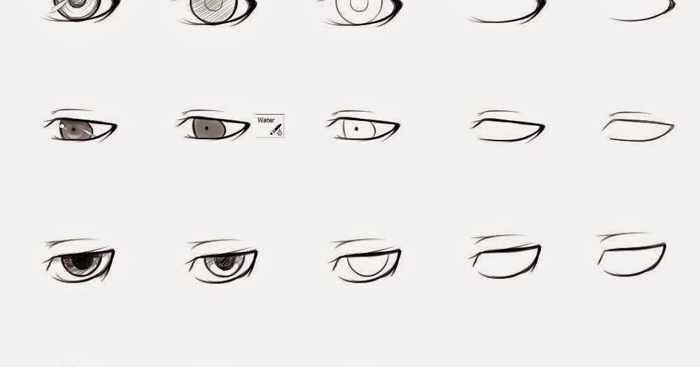 How to draw anime male eyes step by step - Learn To Draw ...