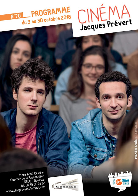 Programme d'octobre 2018 du cinéma Jacques Prévert