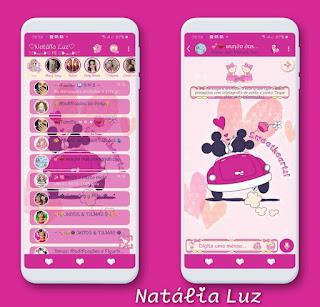 Minnie & Mickey Theme For YOWhatsApp & RA WhatsApp By Natalia Luz