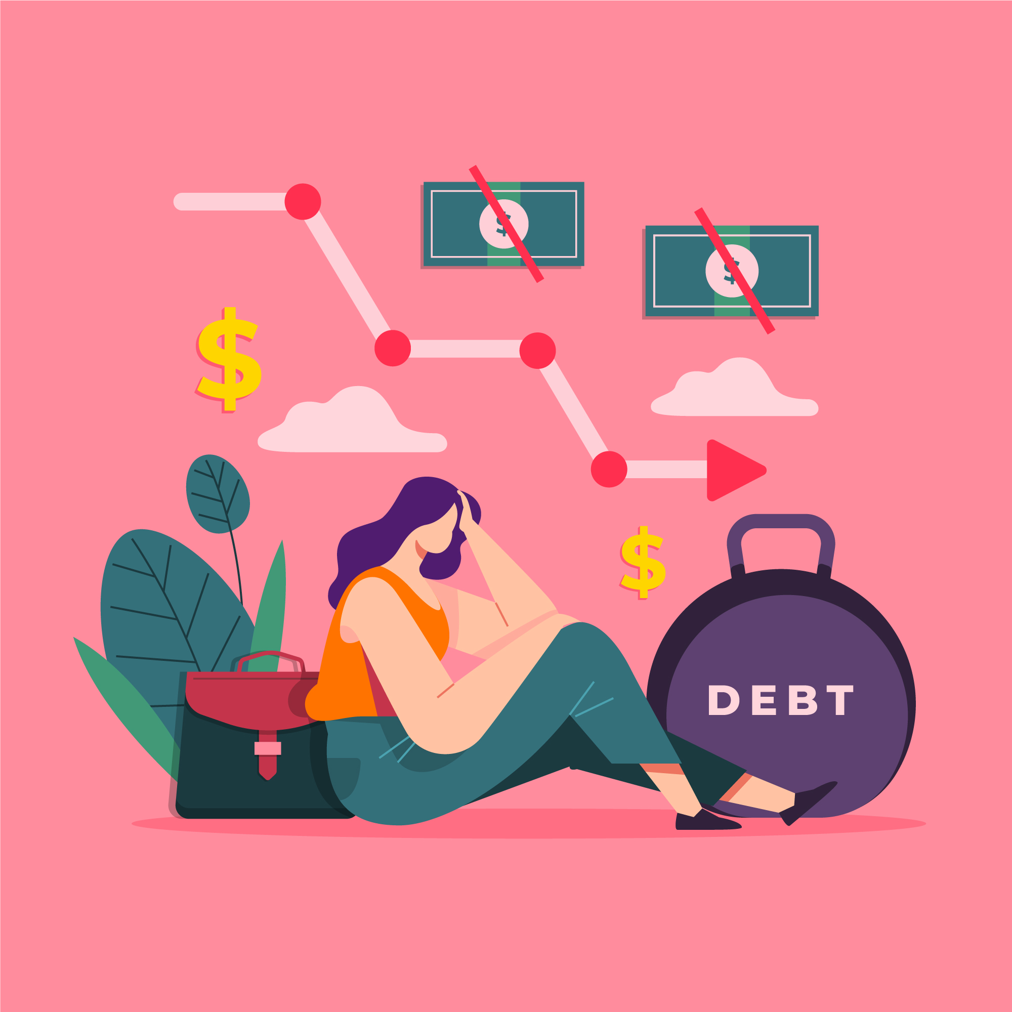 Debt Consolidation | A girl in debt
