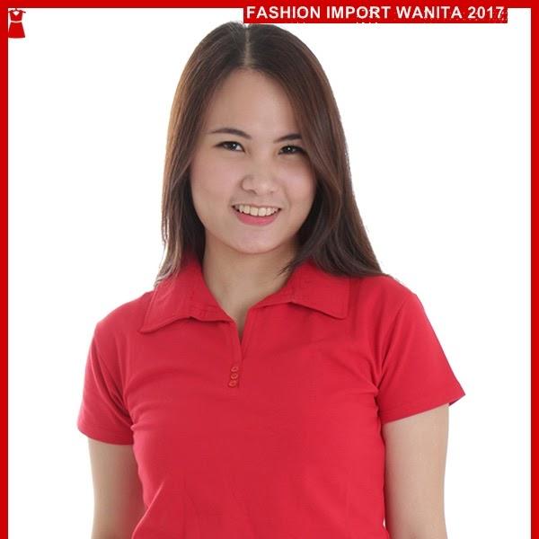 ADR139 Kaos Wanita Merah Polo Wanita Import BMGShop