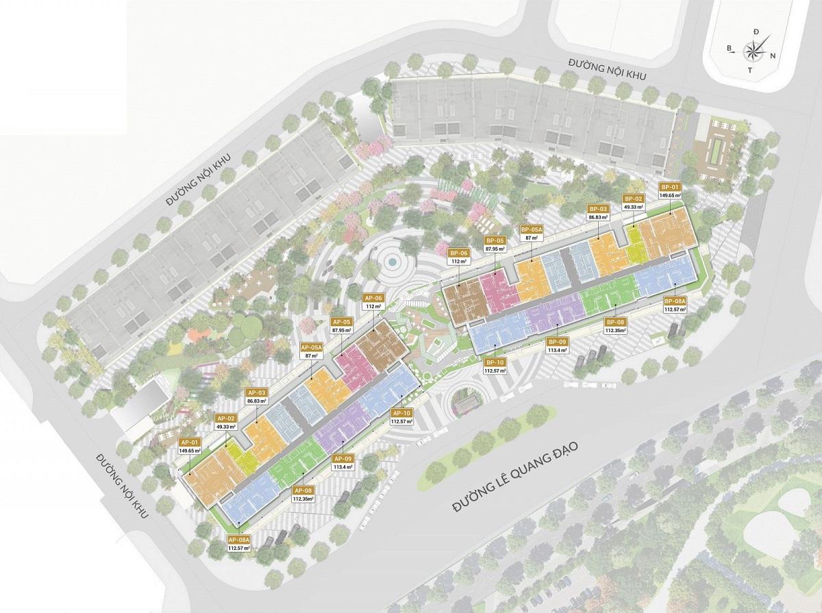 Không gian sống xanh tại Chung cư The Matrix One Mễ Trì
