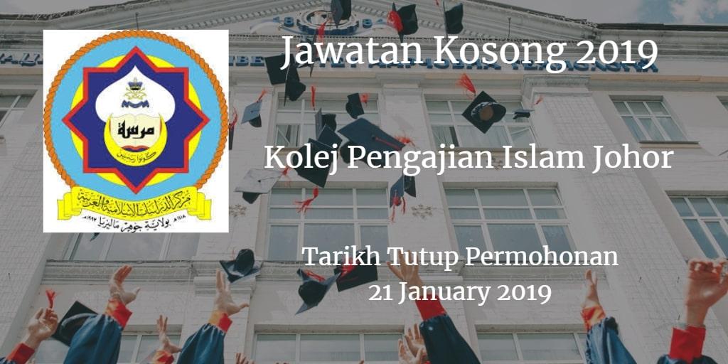Jawatan Kosong MARSAH 21 January 2019