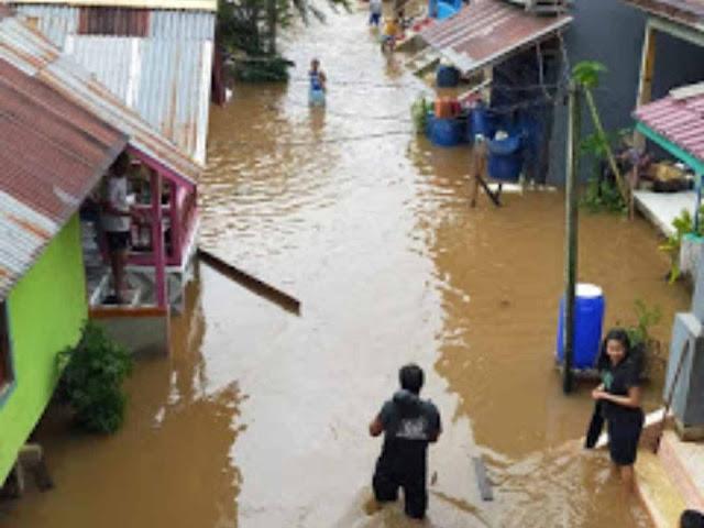 Sungai Keruap Meluap, 3 Dusun Di Desa Pelaik Keruap Kecamatan Menukung Terendam Banjir