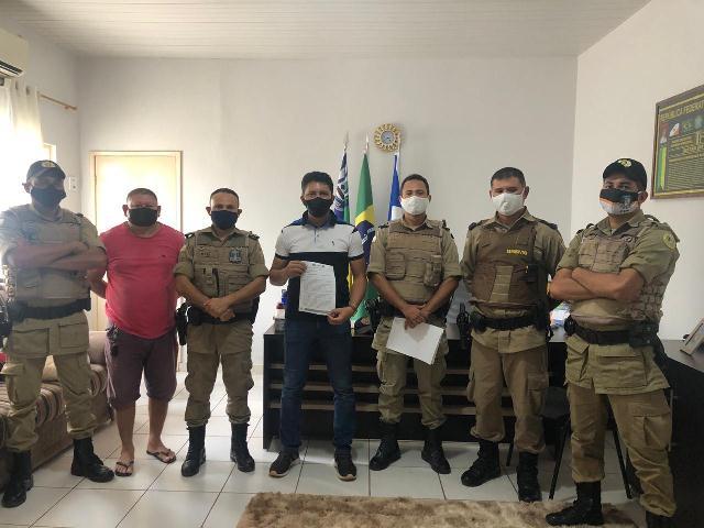 Visita institucional realizada pelo Comando do 9º BPM contempla os prefeitos das cidades de Buriti e São Sebastião