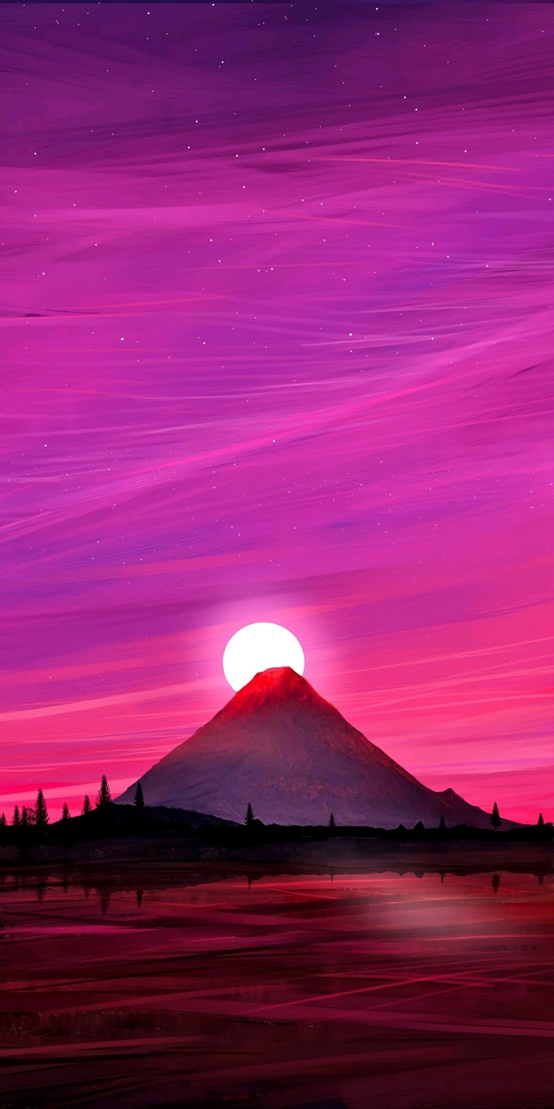 Purplish sky