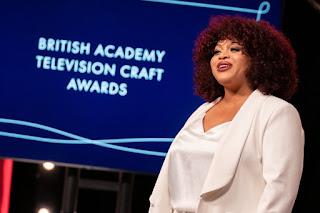 Gbemisola Ikumelo hosts the 2021 British Academy Television Craft Awards