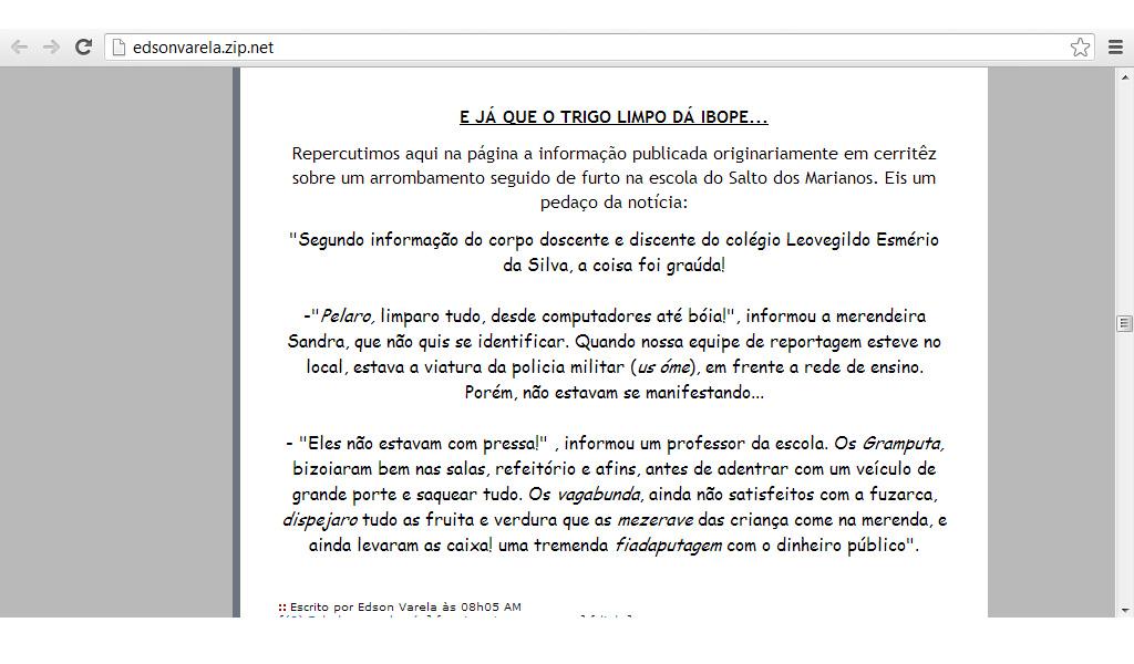 TRIGO LIMPO: Maio 2013