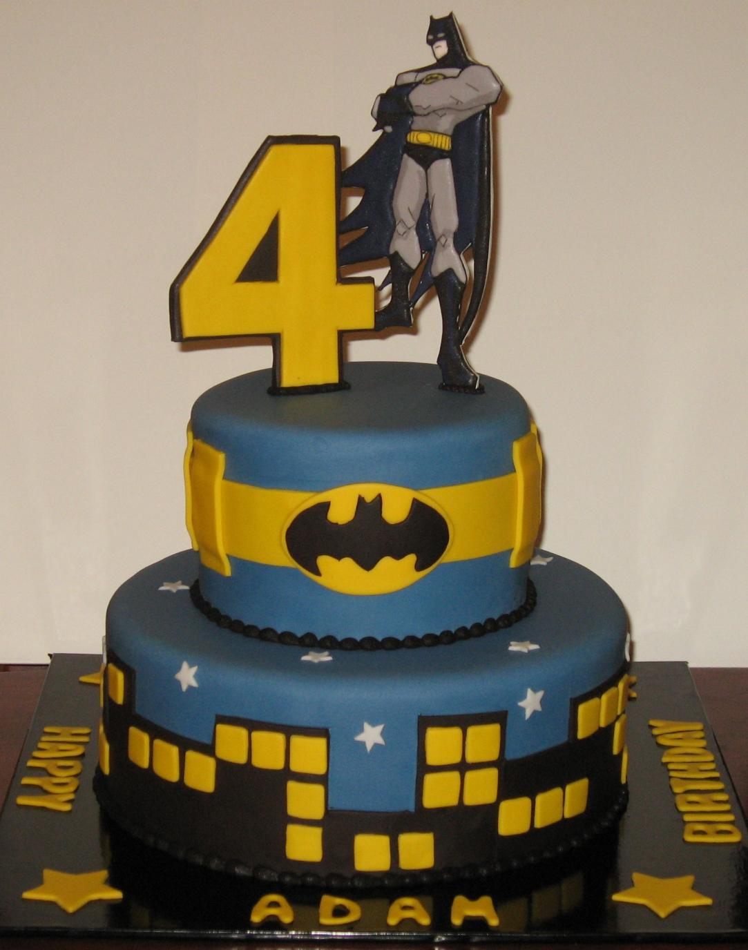 Let Them Eat Cake Two Tier Batman Cake