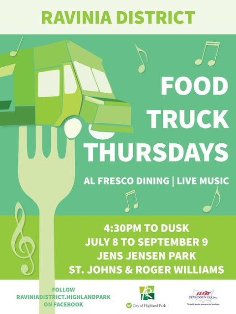 Food Trucks and Live Music Provide for Fun Thursday Evenings This Summer in the Ravinia District