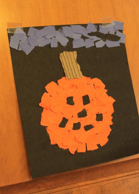 Halloween Paper Pumpkin Craft