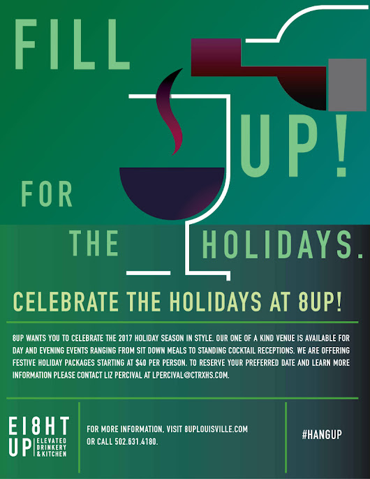 It's Never Too Early to Start Planing your Next Holiday Event! Call 8UP Today