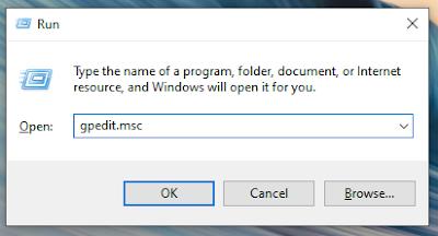 Membuka Group Policy Editor Melalui Windows Run