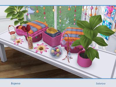 бохо для The Sims 4 , интерьер в стиле бохо для The Sims 4 , стиль бохо в интерьере, бохо для The Sims 4 , интерьер для The Sims 4, спальня в стиле бохо для The Sims 4, гостиная в стиле бохо для The Sims 4, столовая в стиле бохо для The Sims 4, кабинет в стиле бохо для The Sims 4, дом в стиле бохо для The Sims 4, веранда в стиле бохо для The Sims 4, дворик в стиле бохо для The Sims 4, комната в стиле бохо для The Sims 4, мебель в стиле бохо для The Sims 4, декор в стиле бохо для The Sims 4, Bojena Decor Декор Божена для The Sims 4 Бохо декоративный набор. Включает в себя 11 объектов, имеет 2 цветовые палитры. Предметы в наборе: - декоративный занавес, - baskets, - два вида цветов, - два вида растений, - декоративный пуф с одеялами, - декоративные фонари, - декоративные свечи, - стеклянная ваза с шариками, - картина. soloriya