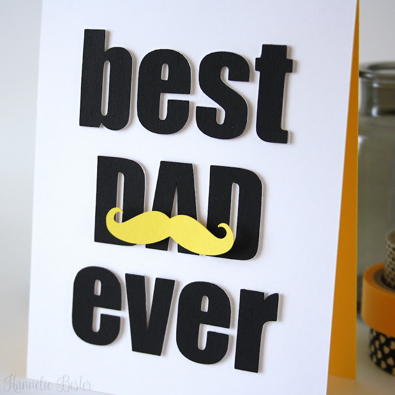 Poster style Father's day card - mustache