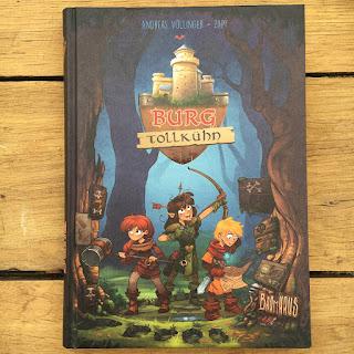 """""""Burg Tollkühn""""  Autor: Andreas Völlinger  Illustrationen: Zapf  Verlag: Baumhaus"""