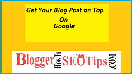 Blogger Tips, SEO, Google Search Results,