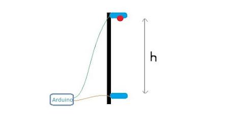 alat penghitung gravitasi dengan arduino