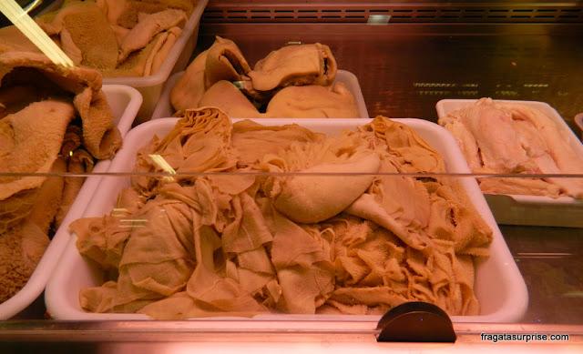 Tripa vendida no Mercado Central de Florença