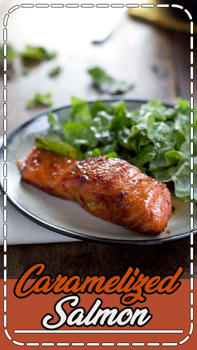 This caramelized salmon is simple, healthy and completely gorgeous. Just five ingredients and 20 minutes get that browned caramelized crust on the salmon.