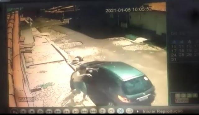 Vídeo mostra momento em que mulher é  brutalmente atropelada na cidade de Picos