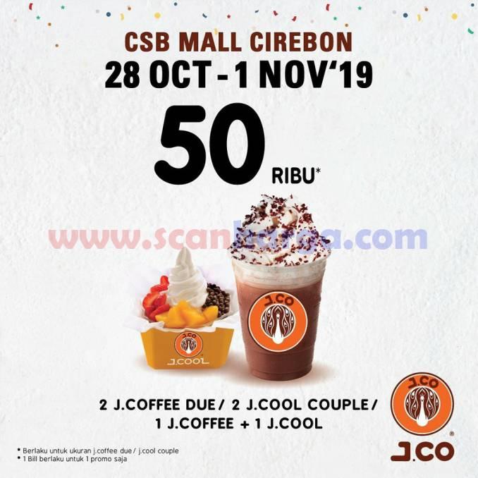 Jco Promo grand opening CSB Cirebon 28 Oktober - 8 November 2019