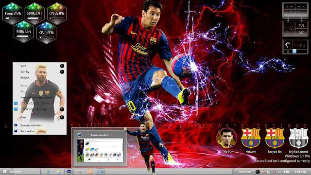Lionel Messi Theme Win 8/8.1 by Enji Riz Lazuardi