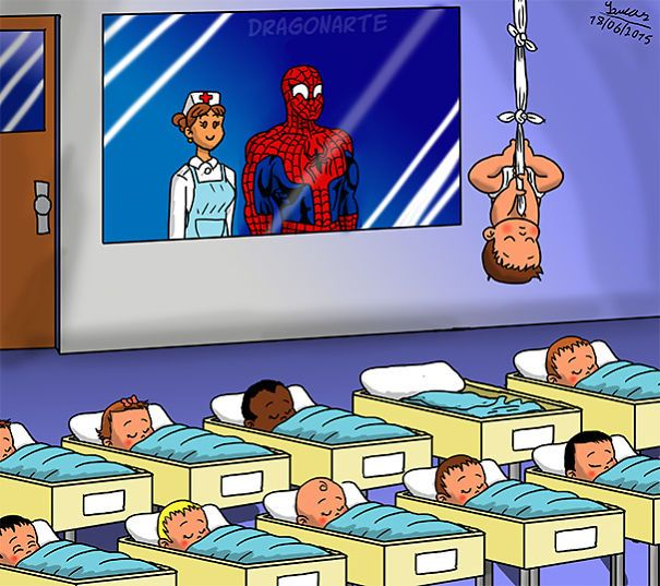 Spider-Man's Baby ,ابطال خارقون مع أطفالهم