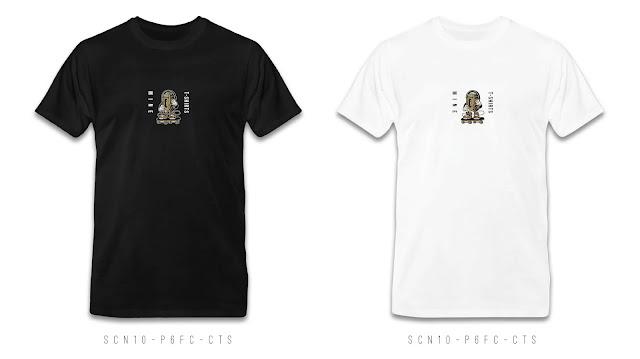 SCN10-P6FC-CTS Cartoon & Name T Shirt Design, Custom T Shirt Printing