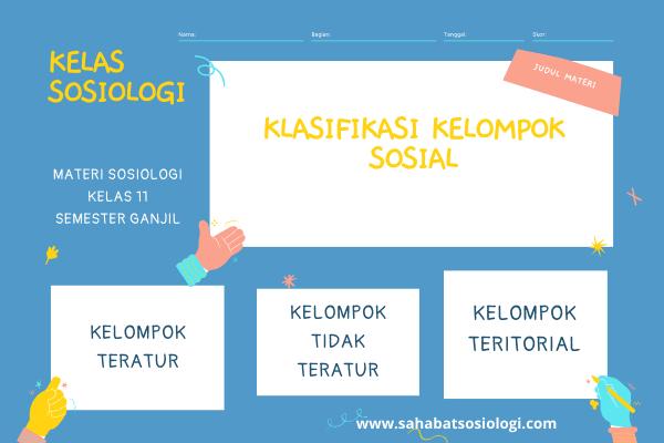 Klasifikasi Kelompok Sosial