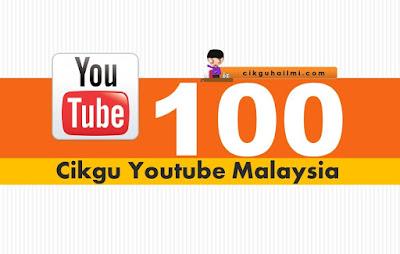 100 Channel Youtube Pengajaran Cikgu Malaysia