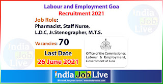 labour-and-employment-goa-recruitment-2021-apply-online-70-various-job-vacancies-indiajoblive.com