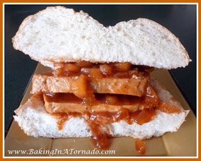 Crockpot Barbecue Pork Sandwich | recipe developed by www.BakingInATornado.com | #recipe #sandwich