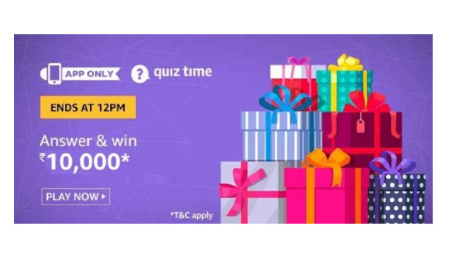 Amazon Quiz Answers Today 23 January win - ₹10000 Pay Balance