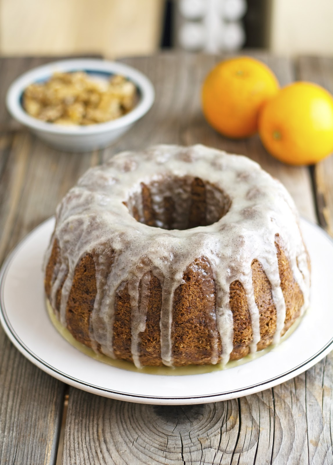 Zucchini Olive Oil Bundt Cake with Orange Glaze