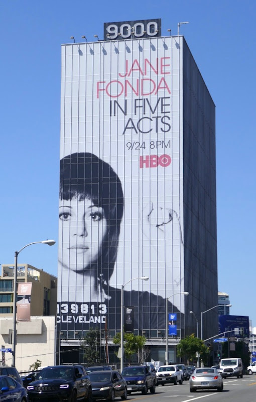 Giant Jane Fonda In Five Acts billboard