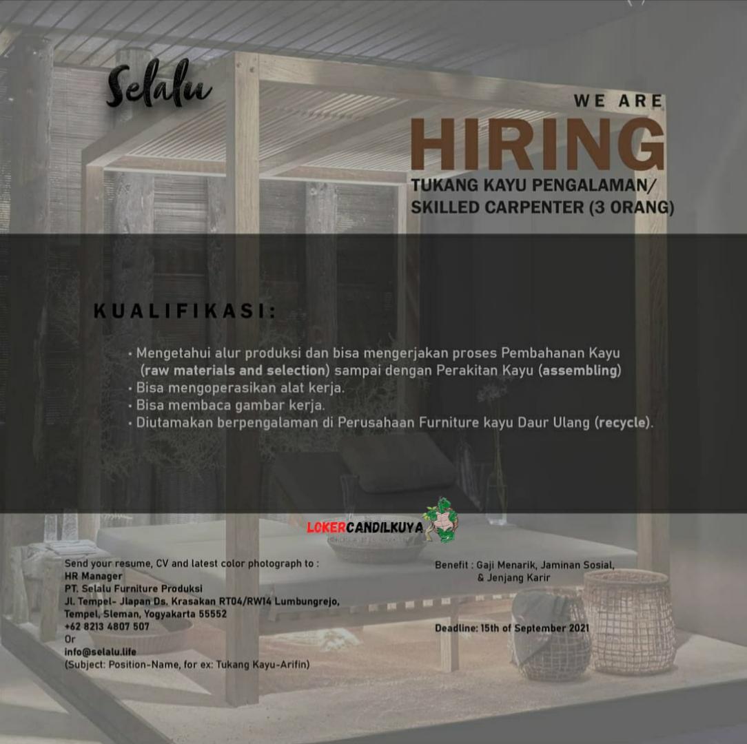 Lowongan Kerja PT Selalu Furniture Produksi Yogyakarta