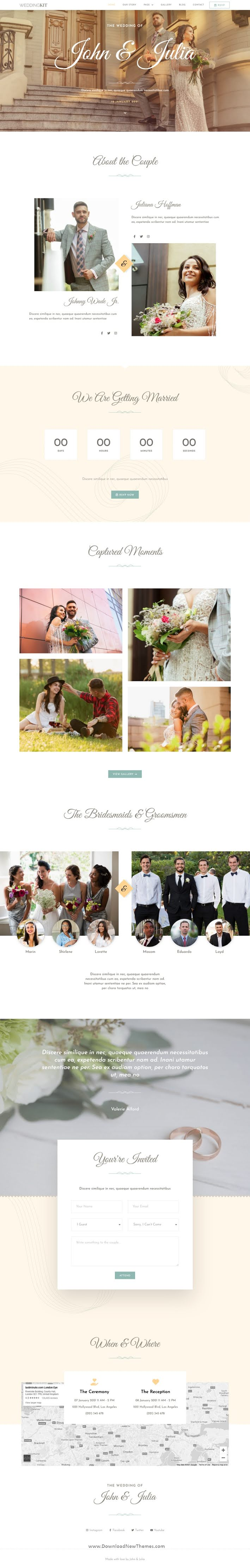 Invite and Gallery Event Elementor Template Kit