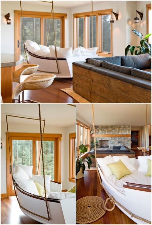 Boat Swing Daybed Living Room
