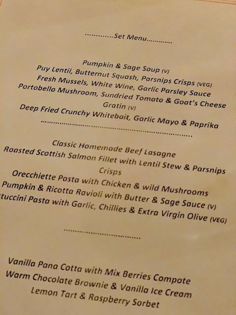 set menu 40 Dean Street
