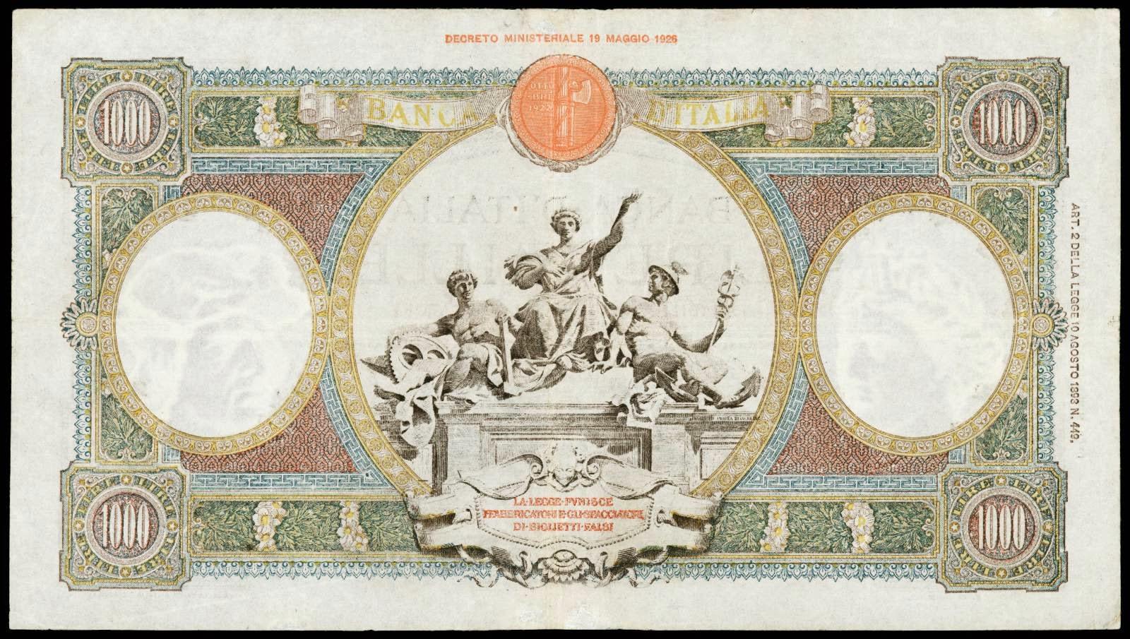 1000 Italian Lira banknote