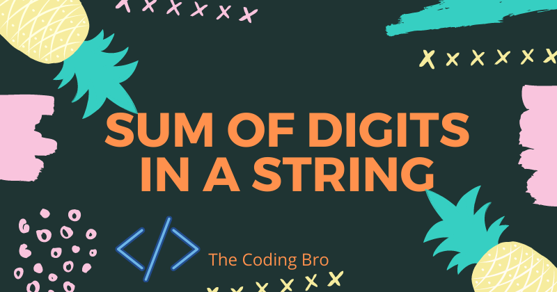 Sum of Digits in a String