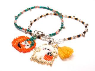Seed Bead Charm Bracelet