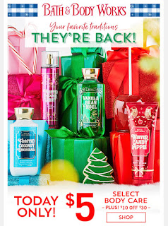 Bath & Body Works | Today's Email - November 11, 2019