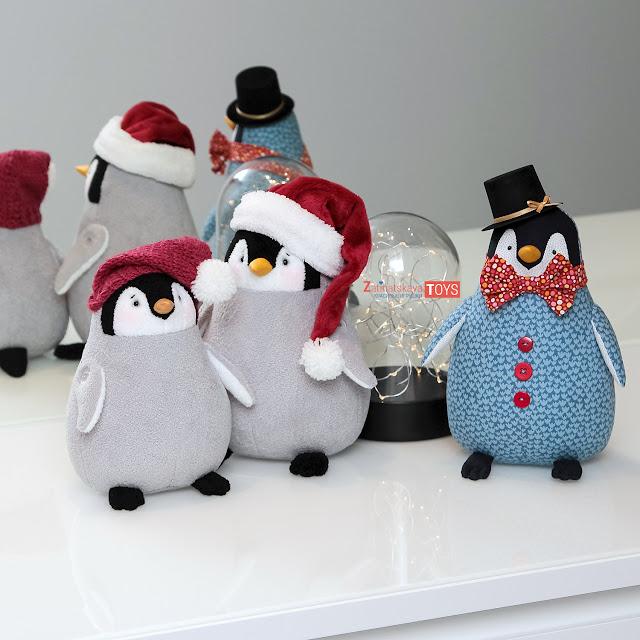 мягкие игрушки пингвины сшиты своими руками по выкройке Затинацкой Натальи