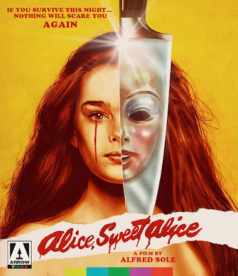 Cover art for Arrow Video's Blu-ray of ALICE, SWEET ALICE!