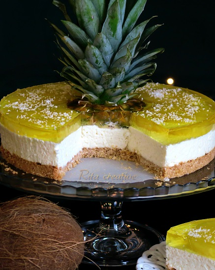 sernik z ananasem i kokosem