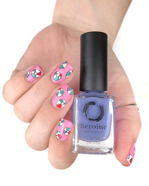 Beach Ball Nail Art 25 Sweetpeas