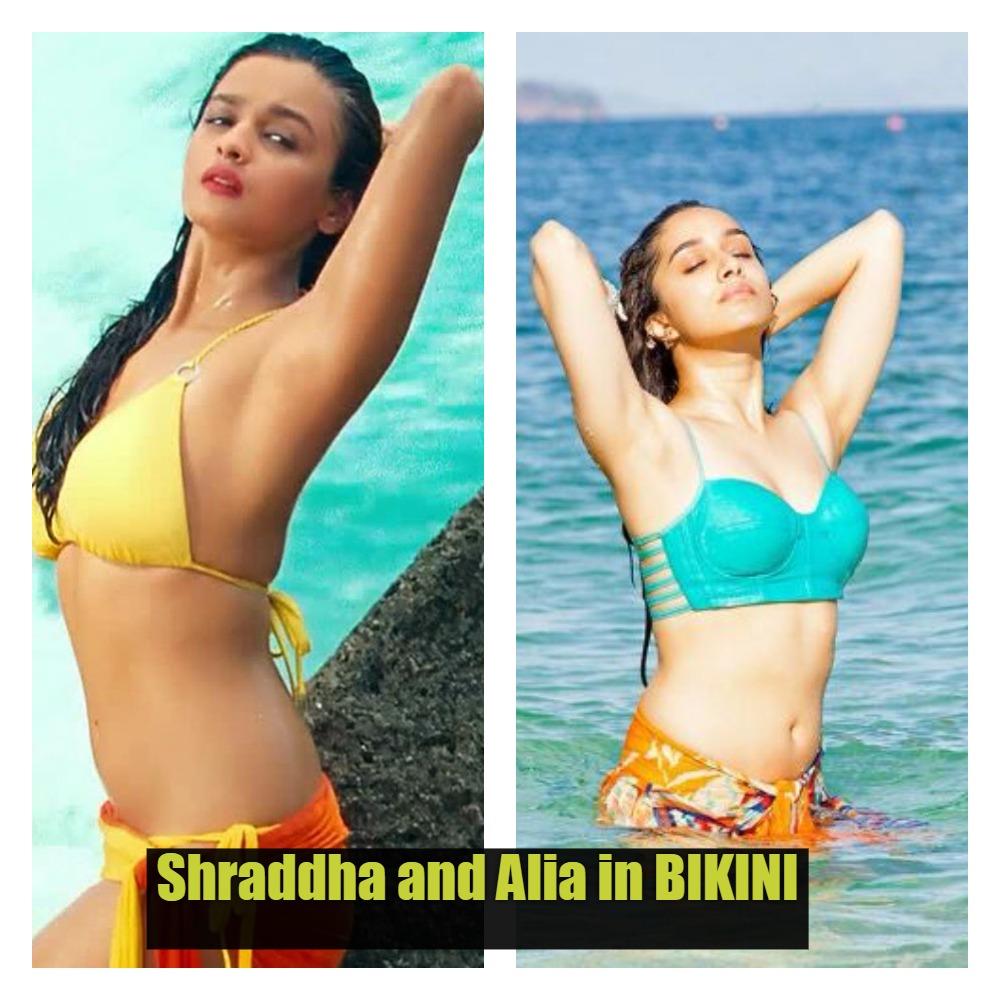 shraddha kapoor and alia bhatt bikini