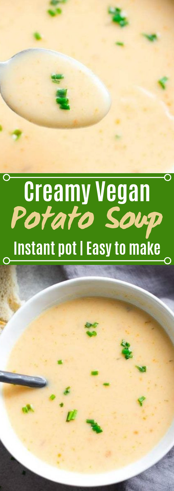 Easy Vegan Potato Soup #soup #vegetarian